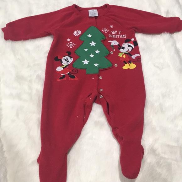 my first christmas footed pajama